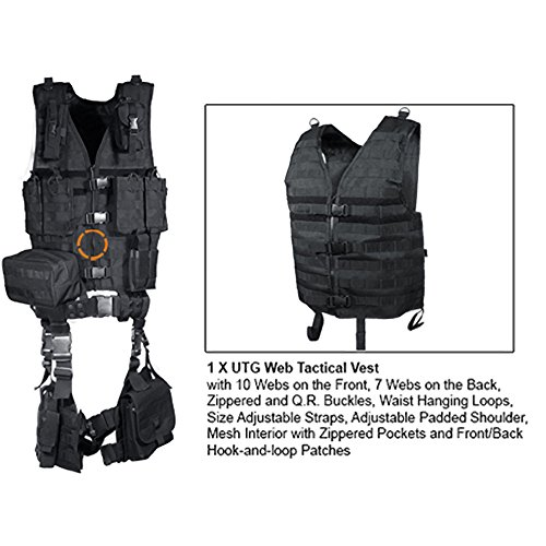 UTG Airsoft Tactical Vest 4 UTG Ultimate Tactical Gear Modular 10 Piece Complete Kit