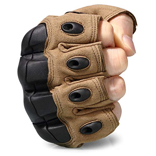 WTACTFUL Airsoft Glove 4 WTACTFUL Men Motorbike Fingerless Gloves for Motorcycle Cycling Climbing Hiking Hunting Gloves
