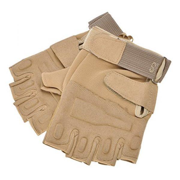 ZLYC Airsoft Glove 3 ZLYC Men's Fitness Gloves Wrist Wrap Support Half Finger Tactical Gym Glove