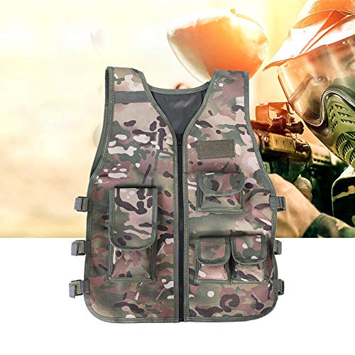 Military Camouflage Vest for People Who Love to Play Outdoors War Games