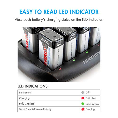 Tenergy Airsoft Battery Charger 3 Tenergy TN295 10-Bay 9V Battery Charger for Li-ion Battery
