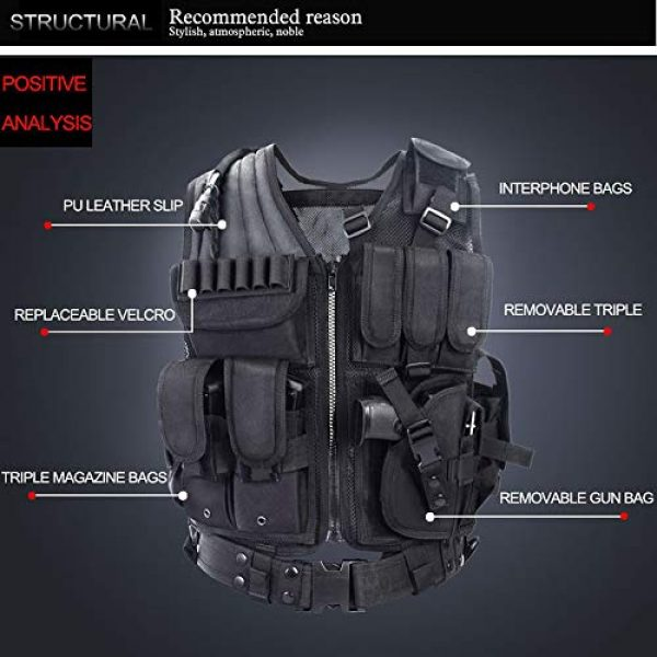 Fouos Airsoft Tactical Vest 2 Fouos Tactical Vest Camouflage Vest Body Armor Molle Outdoor Equipment Paintball Airsoft Combat Protective Vest Men