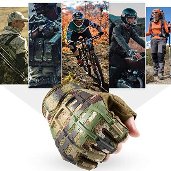 YOSUNPING Airsoft Glove 7 YOSUNPING Tactical Rubber Knuckle Fingerless Gloves Protection for Airsoft Paintball Riding Motorcycle Work