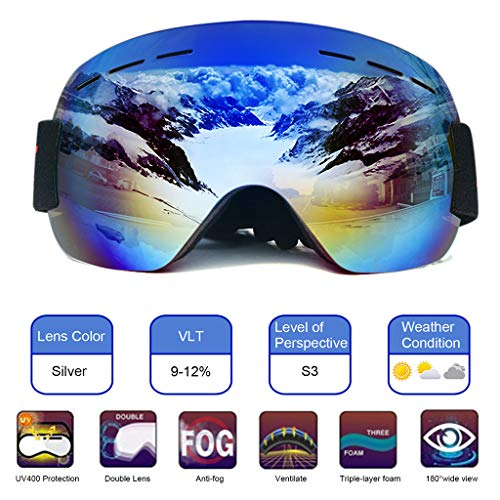 charmsamx Airsoft Goggle 2 charmsamx Windproof Ski Goggles for Men Women Youth Adult Protective Snowboard Goggles UV Protection Anti-Impact Snow Goggles with Adjustable Strap