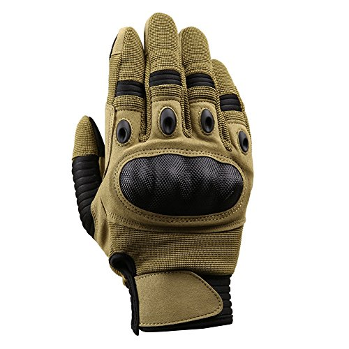 TACVASEN Airsoft Glove 3 TACVASEN Men's Full Finger Gloves for Motorcycle Cycling Camping Hiking Climbing Operating Work Sports