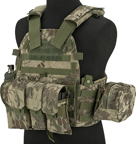 Evike Airsoft Tactical Vest 1 Evike - Avengers Airsoft Tactical Vest 6D9T4A w/Magazine & Radio Pouches