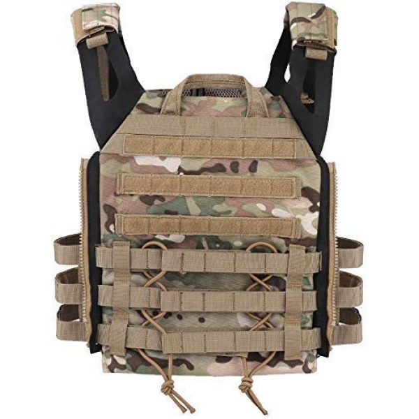 Will Outdoor Airsoft Tactical Vest 7 Airsoft Tactical JPC2.0 Amphibious Combat Multicam Protective Vest with 2.0 Large Capacity Outdoor Expansion Kit