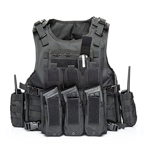 vAv YAKEDA Airsoft Tactical Vest 1 vAv YAKEDA Tactical Vest Military Chest Rig Airsoft Swat Vest for Men