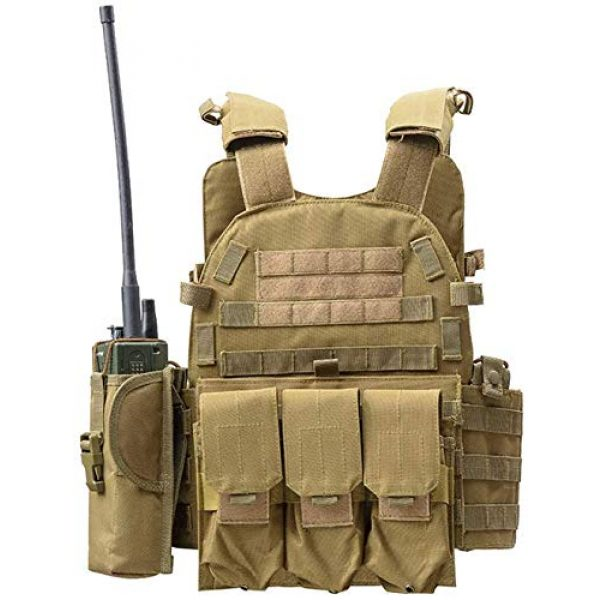DMAIP Airsoft Tactical Vest 1 DMAIP Hunting Molle Tactical Vest Combat Security Training Tool Pouch Modoular Protective Durable Waistcoat for Outdoor Paintball CS Game Airsoft Climbing Hiking