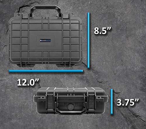 Compact 9mm Gun Case for Carrying Handgun with Scope and Accessories