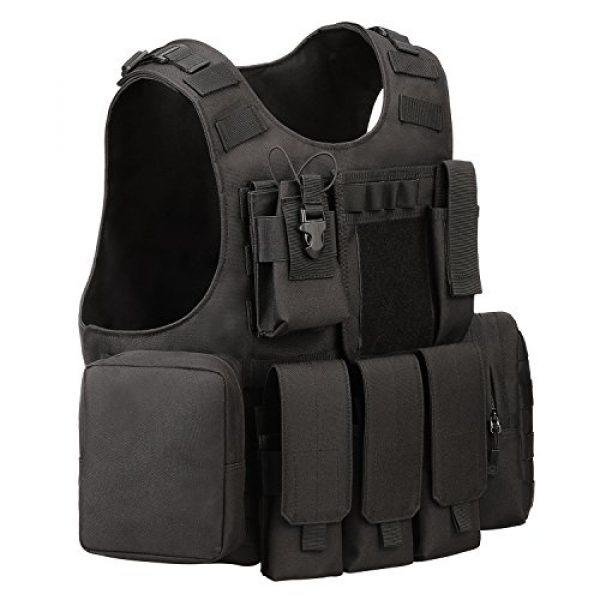ArcEnCiel Airsoft Tactical Vest 2 ArcEnCiel Tactical Molle Vest, Black