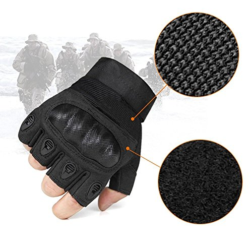 Fantastic Zone Airsoft Glove 6 Ventilate Wear-resistant Tactical Gloves Hard Knuckle and Foam Protection for Shooting Airsoft Hunting Cycling Motorcycle Gloves Men's Outdoor Half finger Full finger Gloves Black M/L/XL