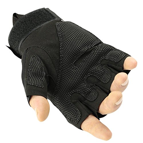 K-mover Airsoft Glove 4 K-mover Outdoors Camping Half Finger Gloves Tactical Fingerless Tactical Gloves Durable Hard Knuckle Cycling Motorcycle Gloves for Shooting Hunting Motorcycling Climbing