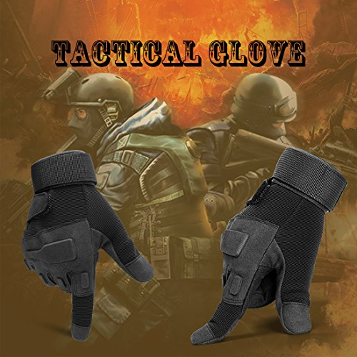 SHAPA Airsoft Glove 7 Military Tactical Gloves Full Finger Rubber Hard Knuckle Gloves for Hunting Airsoft Paintball