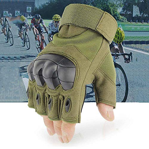 JZYML Airsoft Glove 4 JZYML Tactical Glove Hard Knuckle Fingerless Half Finger Outdoor Cycling Motorcycle Hiking Camping Driving Gloves Guante