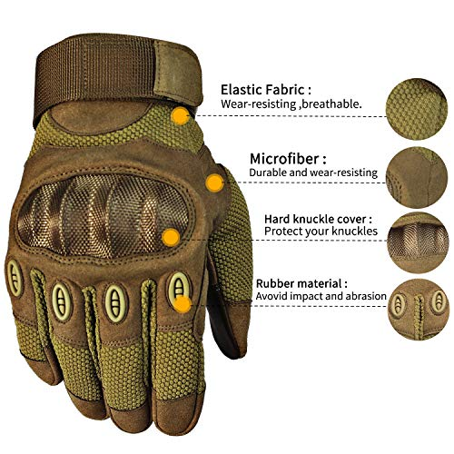 Fuyuanda Airsoft Glove 2 Touch Screen Full Finger Outdoor Gloves for Riding Motorcycle