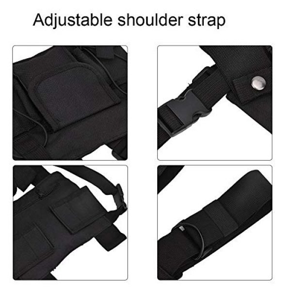 Alomejor Airsoft Tactical Vest 5 Alomejor Airsoft Vest Training Outdoor Vests with Reflective Stripes for Airsoft Paintball Wargame Outdoor Sport