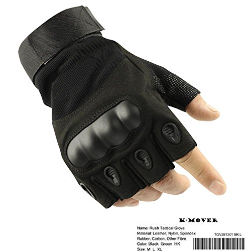 K-mover Airsoft Glove 2 K-mover Outdoors Camping Half Finger Gloves Tactical Fingerless Tactical Gloves Durable Hard Knuckle Cycling Motorcycle Gloves for Shooting Hunting Motorcycling Climbing