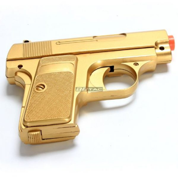 BBTac Airsoft Pistol 7 bbtac gold and black dual 618 airsoft sub-compact pocket pistols 110 fps spring concealable gun with storage case(Airsoft Gun)
