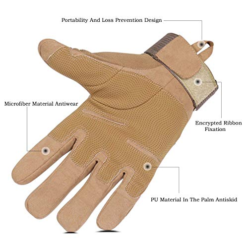 HIKEMAN Airsoft Glove 3 HIKEMAN Army Tactical Gloves Outdoor Full Finger and Half Finger Military Rubber Hard Knuckle Airsoft Paintball Gloves for Motorcycle Cycling Hunting Shooting Hiking Camping