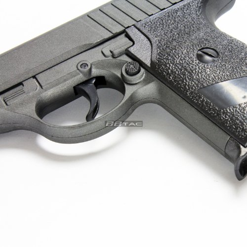 BBTac Airsoft Pistol 5 BBTac ZM02 Spring Pistol Metal Body and Slide Sub-Compact Pocket 220 FPS Concealable Airsoft Gun