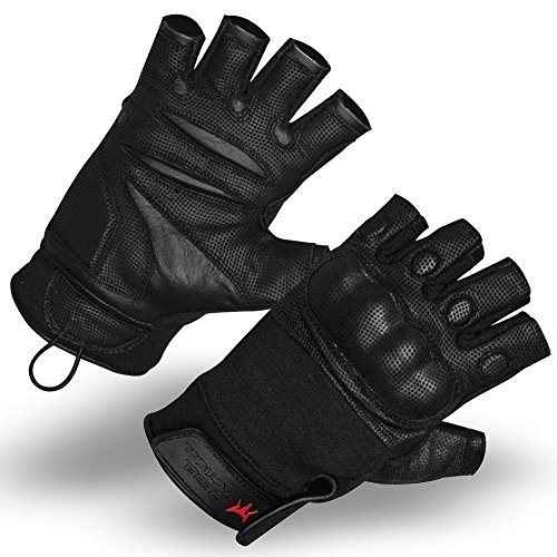 Rebel Tactical Airsoft Glove 1 Rebel Tactical Shooter's Special Fingerless Hard Knuckle Military Airsoft Gloves