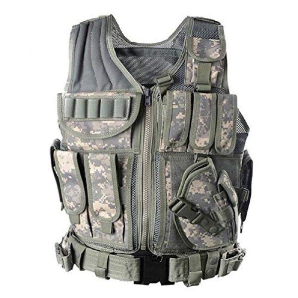 Vioaplem Airsoft Tactical Vest 6 Vioaplem Men's Military Tactical Vest Army Molle Vest Outdoor CS Airsoft Paintball Equipment Body Armor Hunting Vest 4 Colors