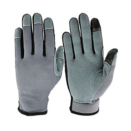 KZZKYMX Airsoft Glove 1 KZZKYMX Genuine Deerskin Snug-fit Multifunction Work Gloves with Touch Screen Fingertips for Working