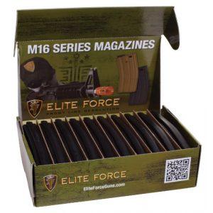 Elite Force Airsoft Gun Magazine 1 Elite Force M4 and M16 6mm BB Airsoft Gun Magazine, Black (140 Rounds), Pack of 10