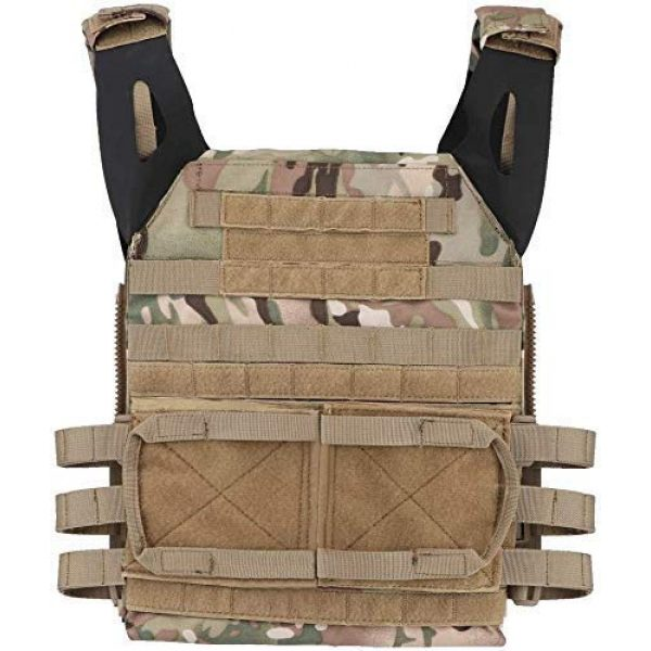 Will Outdoor Airsoft Tactical Vest 5 Airsoft Tactical JPC2.0 Amphibious Combat Multicam Protective Vest with 2.0 Large Capacity Outdoor Expansion Kit