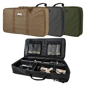 ATG Airsoft Gun Case 1 ATG Tactical Padded Discreet Carbine Rifle Case Takedown Broken Down Upper & Lower Storage 26.0 L X 13.0 W X 3.0 T
