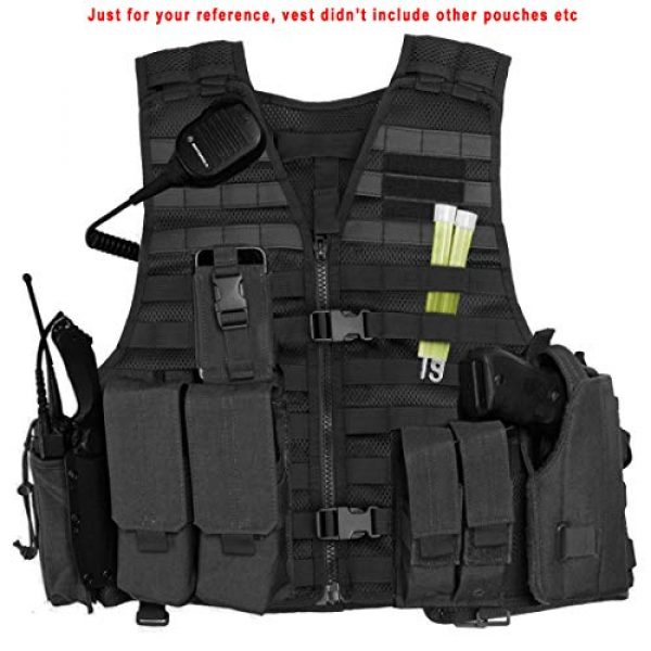 Chief Tac Airsoft Tactical Vest 3 Chief Tac Military Tactical Molle Vest Mesh Light Army Airsoft Paintball Utility Vest, Breathable Lightweight Hunting Fishing Vest for Men