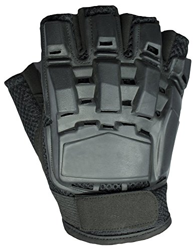 Mafoose Airsoft Glove 1 Mafoose Half Finger Plastic Back Airsoft Paintball Tactical Gloves
