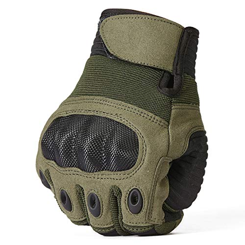 ReFire Gear Airsoft Glove 5 ReFire Gear Military Tactical Gloves Full Finger Rubber Hard Knuckle Army Gloves for Airsoft Paintball Shooting Motorcycle Cycling Hunting