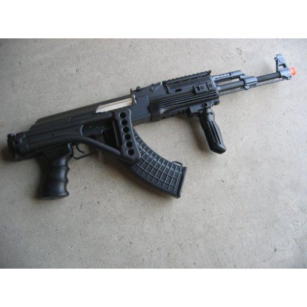 Double Eagle Airsoft Rifle 4 Double Eagle DE Ak-47S Metal Automatic Electric Airsoft Assault Gun 320FPS Black