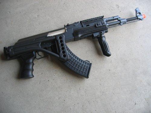 Double Eagle  4 Double Eagle DE Ak-47S Metal Automatic Electric Airsoft Assault Gun 320FPS Black