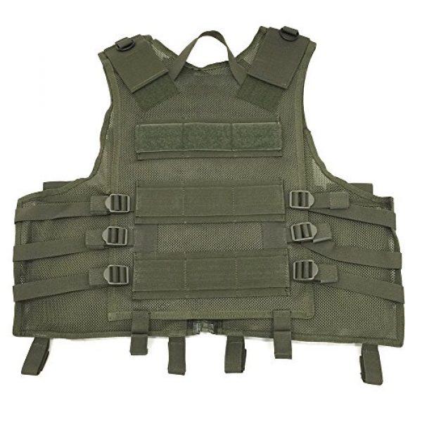 TAC Force Airsoft Tactical Vest 2 TAC Force Commando Tactical Vest, OD Green