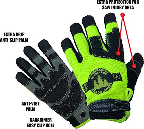 Forester Airsoft Glove 2 Forester HiVis Arborist Rope/Climbing Glove (Small)