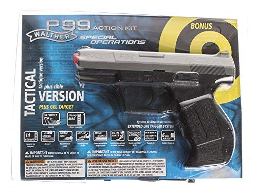 Elite Force Airsoft Pistol 1 Walther P99 6mm BB Pistol Airsoft Gun Action Kit - Includes 100 BBs and Gel Target