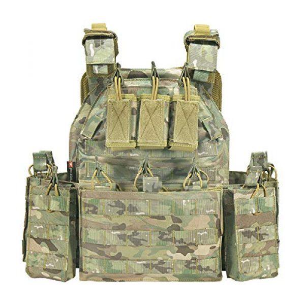 vAv YAKEDA Airsoft Tactical Vest 1 YAKEDA Tactical Vest Outdoor Ultra-Light Breathable Combat Training Vest Adjustable for Adults 600D Encryption Polyester-VT-1063