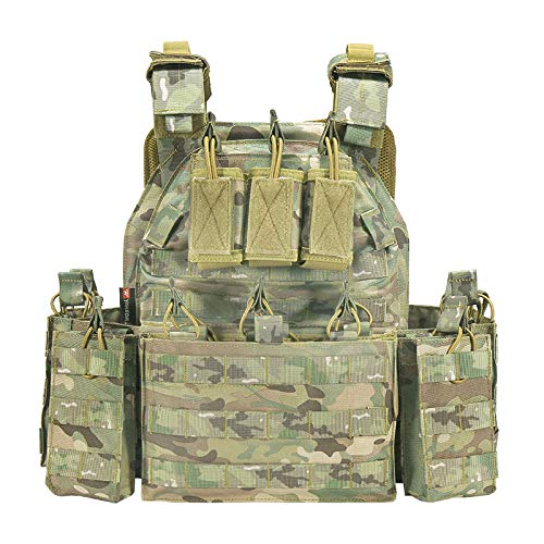 vAv YAKEDA Airsoft Tactical Vest 1 YAKEDA Tactical Vest Outdoor Ultra-Light Breathable Combat Training Vest Adjustable for Adults 600D Encryption Polyester-VT-1063