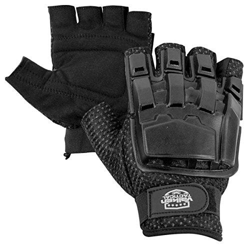 Valken Airsoft Glove 1 Valken V-TAC Half Finger Plastic Back Airsoft Gloves