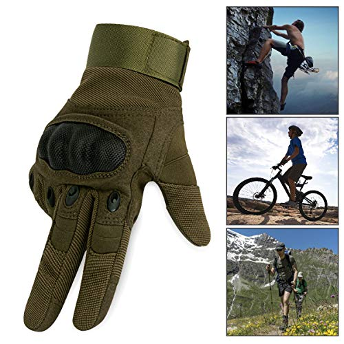IronSeals Airsoft Glove 3 IronSeals Gloves Rubber Hard Knuckle Outdoor Gloves Full Finger and Half Finger Cycling Motorcycle Gloves