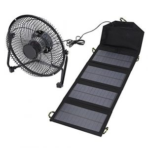 Tihebeyan Airsoft Battery Charger 1 Tihebeyan Solar Battery Charger Lightweight Outdoor Charger Durable & Waterproof Charger with A Fan for Outdoor Activity