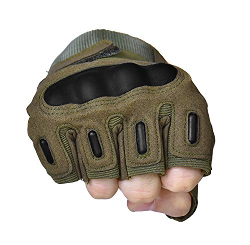 TitanOps Gear Airsoft Glove 4 TitanOPS Fingerless Hard Knuckle Motorcycle Military Tactical Combat Training Army Shooting Outdoor Gloves