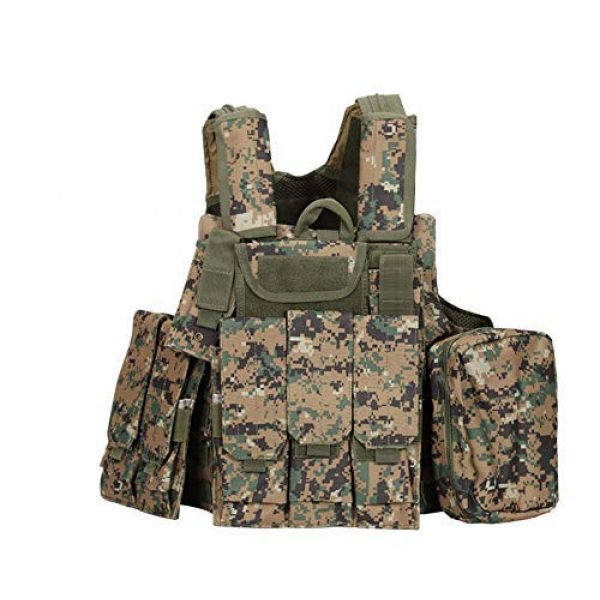 Fouos Airsoft Tactical Vest 1 Fouos Tactical Vest Military Molle Airsoft Paintball Vest for Men