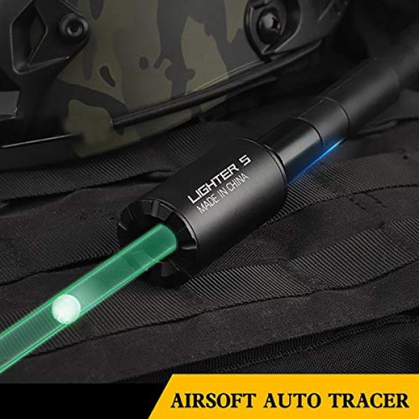 Action Union Airsoft Tool 3 Action Union Lighter S Mini Automatic Airsoft Tracer Unit BBS Glow in Dark for Airsoft Gun 14mm and 10mm Pistol with an Adaptor of M14 CCW Thread to M11 CW Thread
