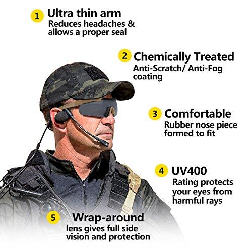 XAegis Airsoft Goggle 2 XAegis Tactical Eyewear 3 Interchangeable Lenses