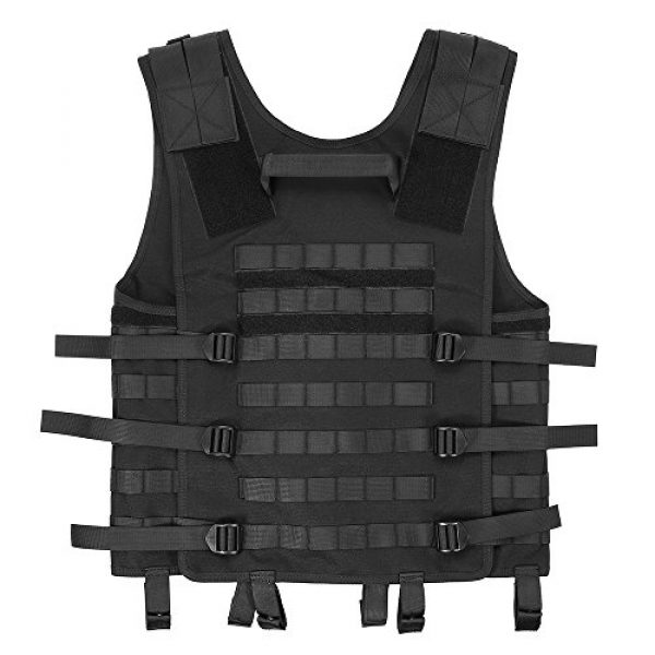 Lixada Airsoft Tactical Vest 2 Lixada Tactical Vest Military Airsoft Vest Adjustable Breathable Combat Training Vest for Outdoor Hunting, Fishing, Army Fans, CS War Game, Survival Game, Combat Training