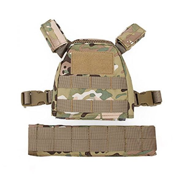 YASHALY Airsoft Tactical Vest 3 YASHALY Chest Rig for Kids, Mini Tactical Vest with Patrol Loading Bearing Belt Assault Molle Combat Children WST Military Protective Gear for WG Game Party